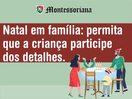 Natal em família: permita que a criança participe dos detalhes.