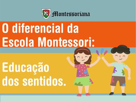 O diferencial da Escola Montessori: Educação dos sentidos.
