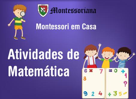 Montessori em casa: Atividades de Matemática