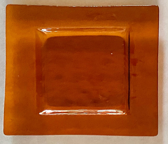 Orange Glass Plate