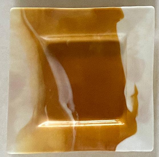 Desert Swirl Glass Plate