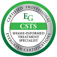 A badge reports Meredith Waller, LCSW is Certified Shame Informed Treatment Specialist (CSTS)