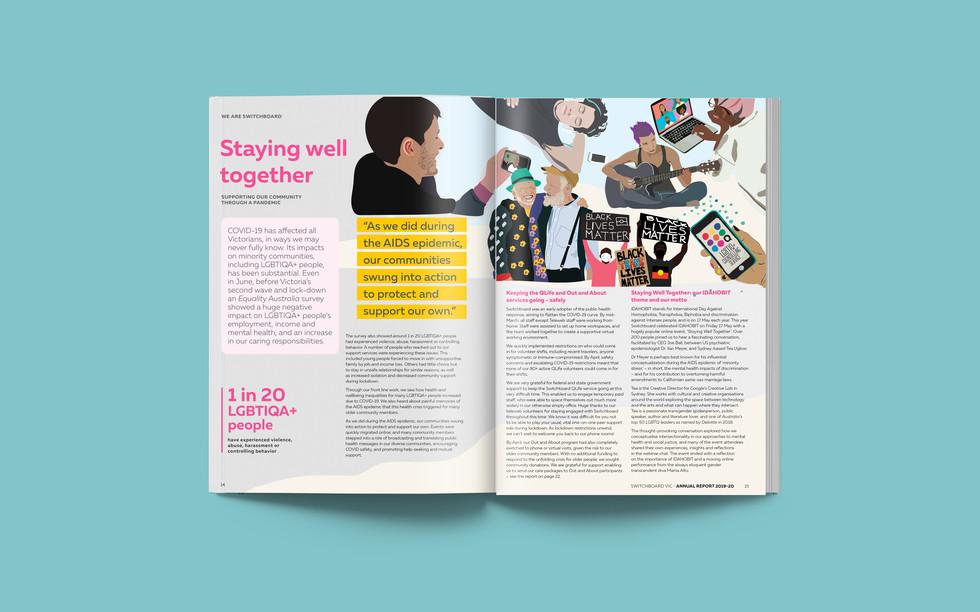 SB Annual Report 2020 Inside Spread