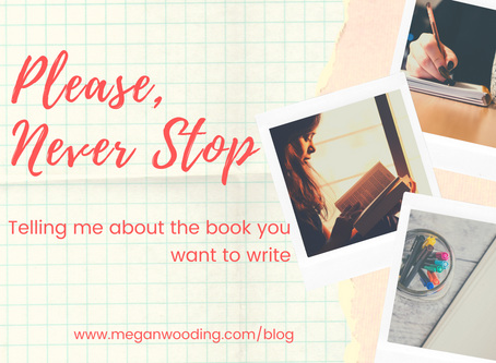 Please Never Stop (telling me about the book you want to write)