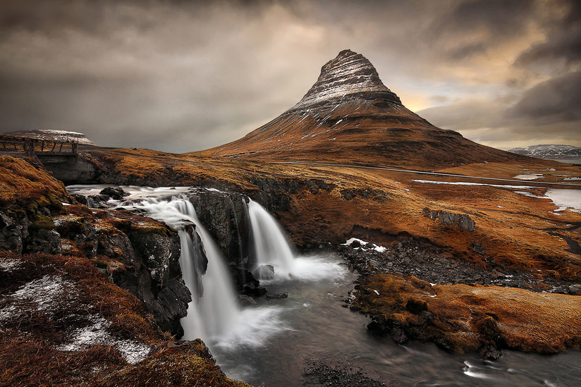 COLOUR - Kirkjufell Waterfall by Gregory McStraw (17 marks)