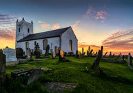 COLOUR - Sunset at Ballintoy by William Allen (8 marks)