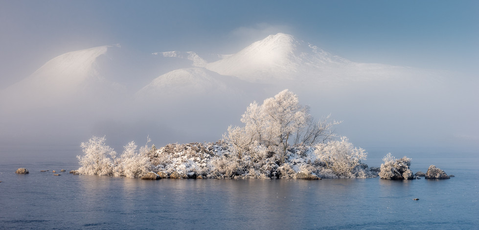 COLOUR - Winter on Lochan na Achlaise by Alistair Cassidy (19 marks)