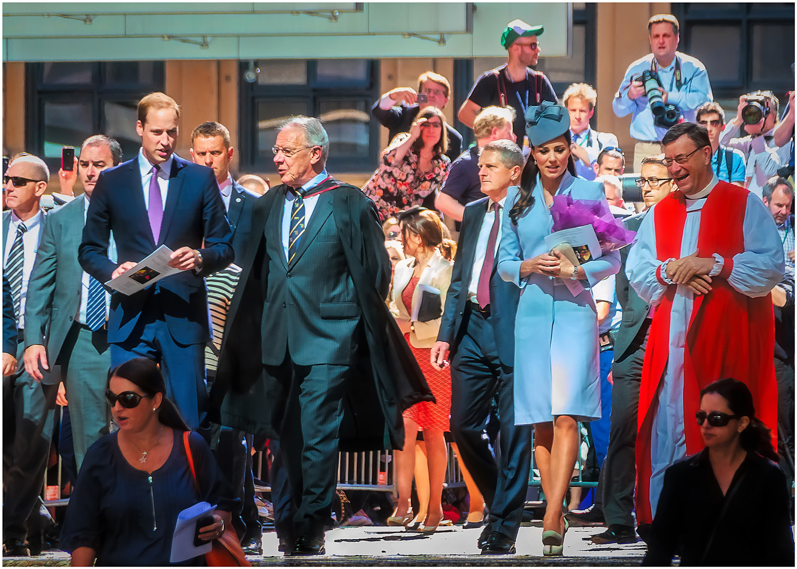 PDI - Will and Kate Leave St. Andrews Cathedral by Anthony Crosby (11 marks)
