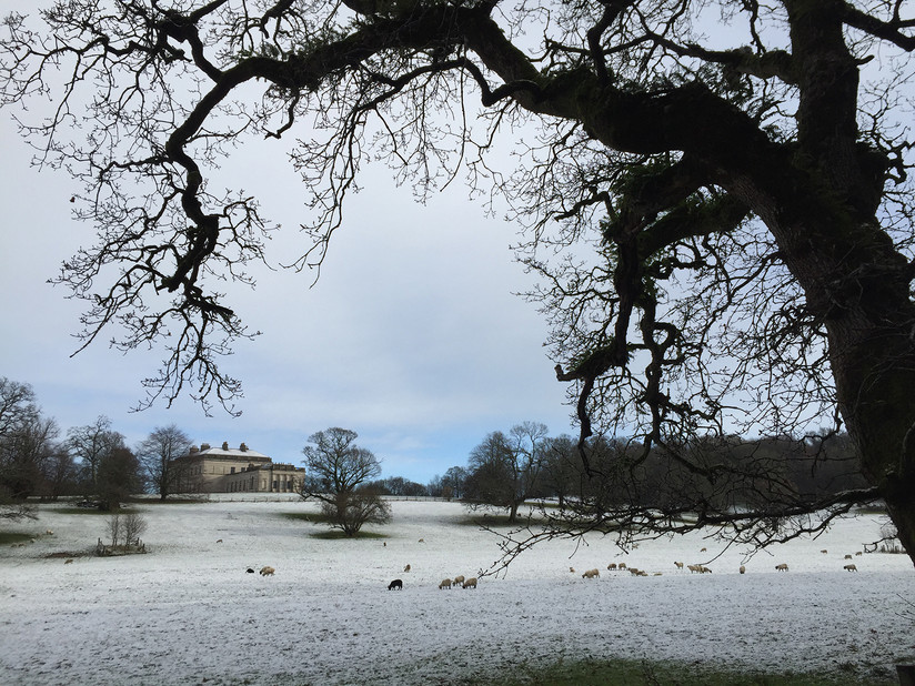 COLOUR - Castlecoole in the Snow by Valerie McMorris (9 marks)
