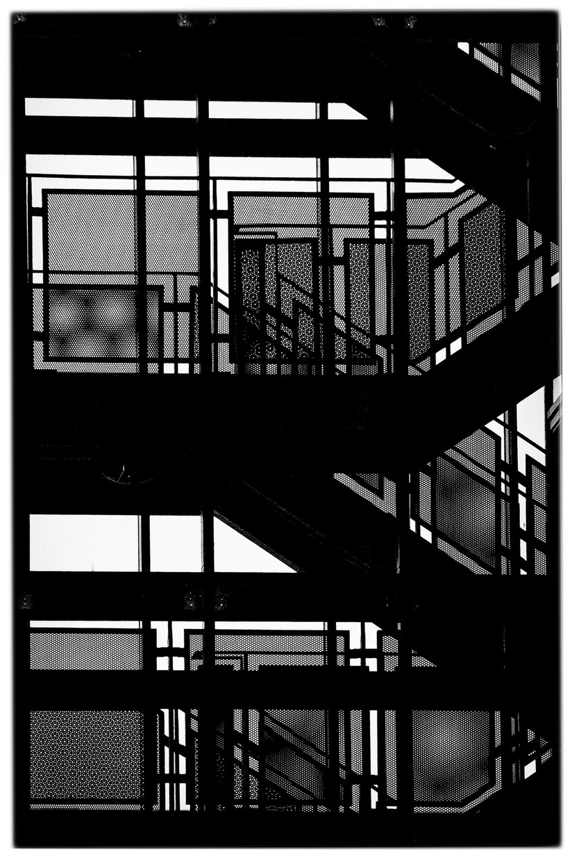 MONO - Abstract Stairway by Iris Rainey (9 marks)