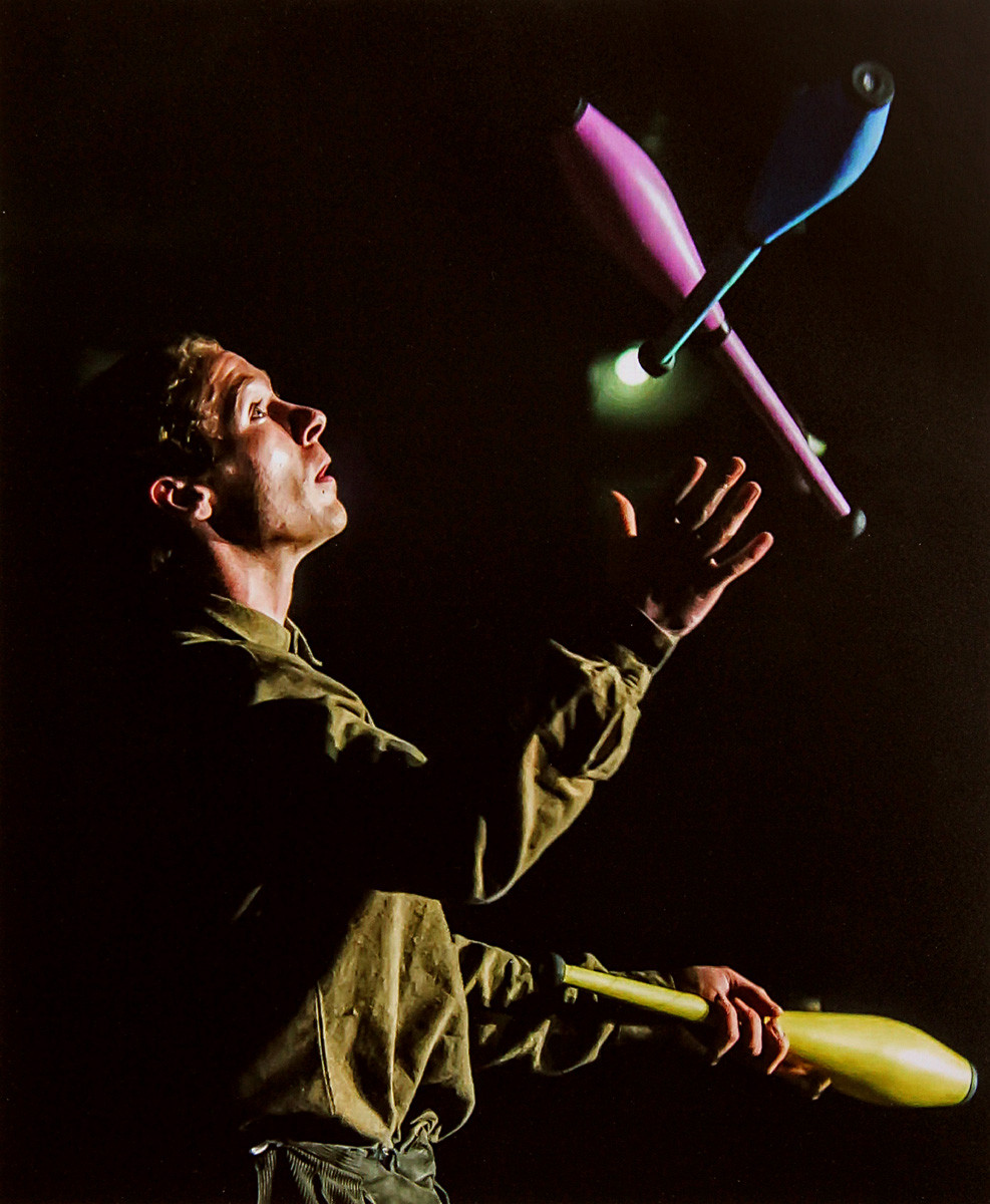 COLOUR - The Juggler by David McClements (9 marks)