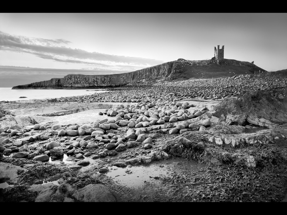 MONO - Dunstanbourgh Castle by Dorothy Flint (16 marks)