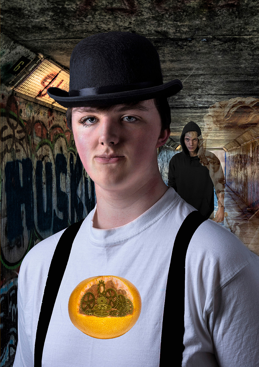 COLOUR - A Clockwork Orange - Anthony Burgess by William Allen (10 marks)