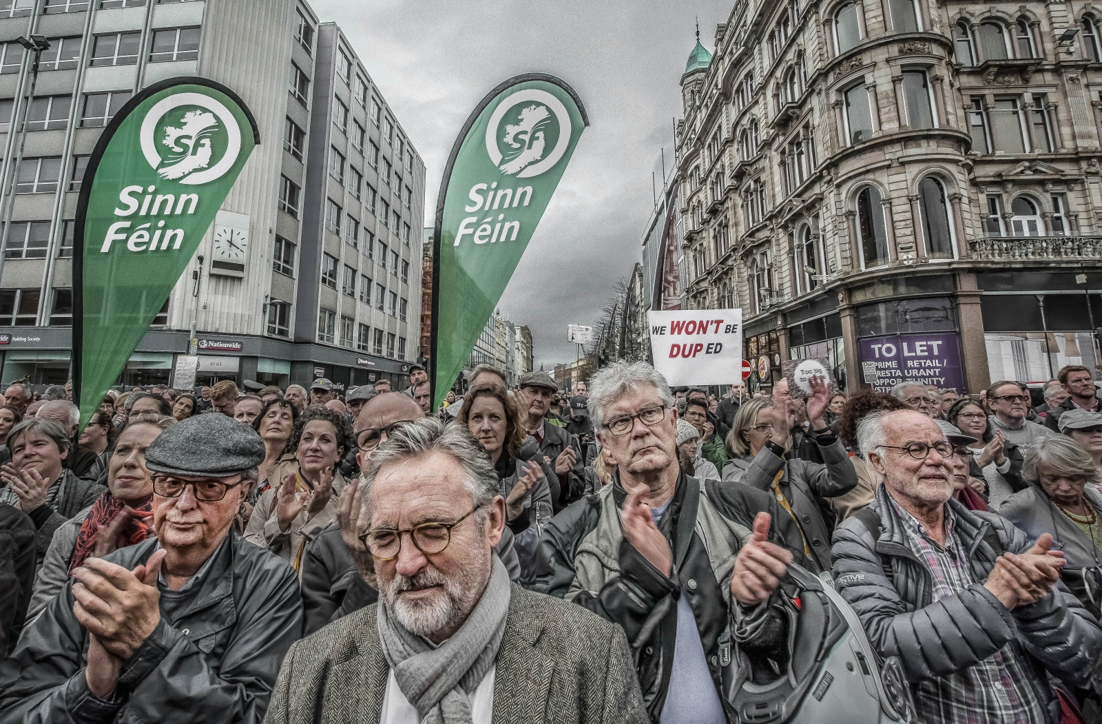 COLOUR - The Belfast Protest by Conor Cormac Davidson (8 marks)