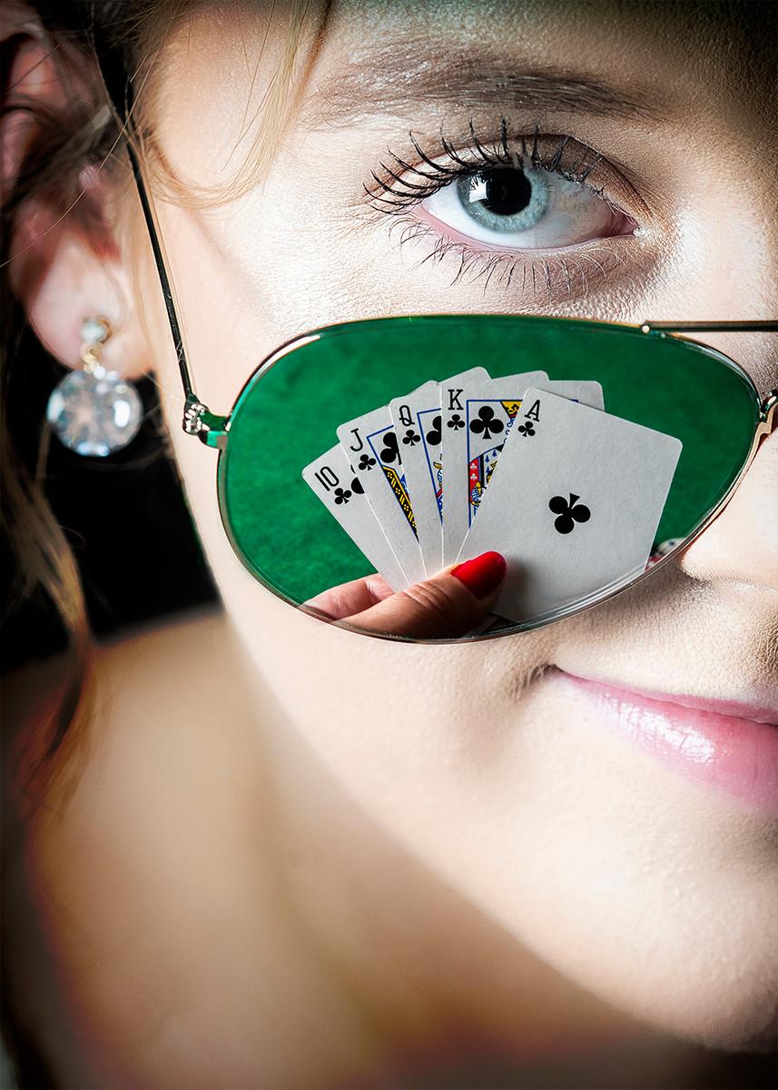 COLOUR - Poker Face - Lady Gaga by Patricia Mackey (12 marks)