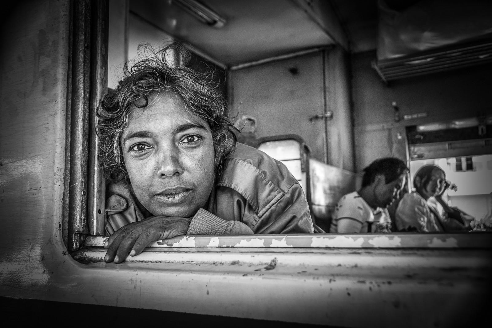 MONO - Burmese train passenger by Elsie Fairley (12 marks)