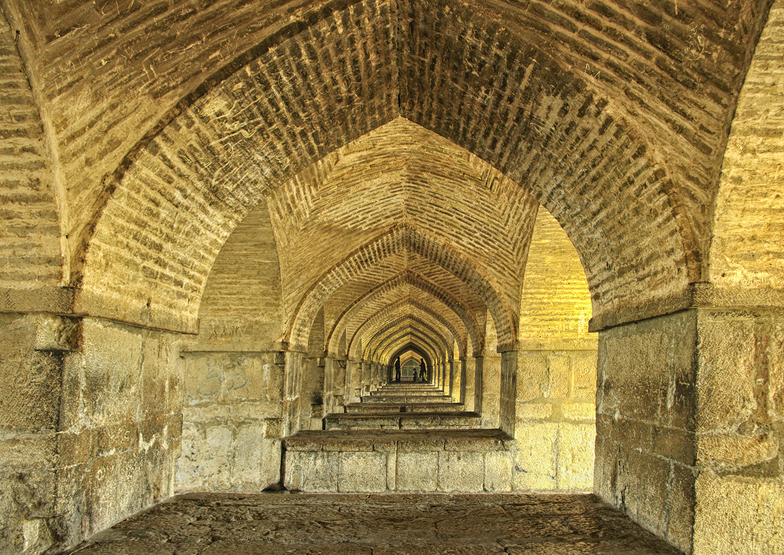 Under the Khaju Bridge, Esfehan