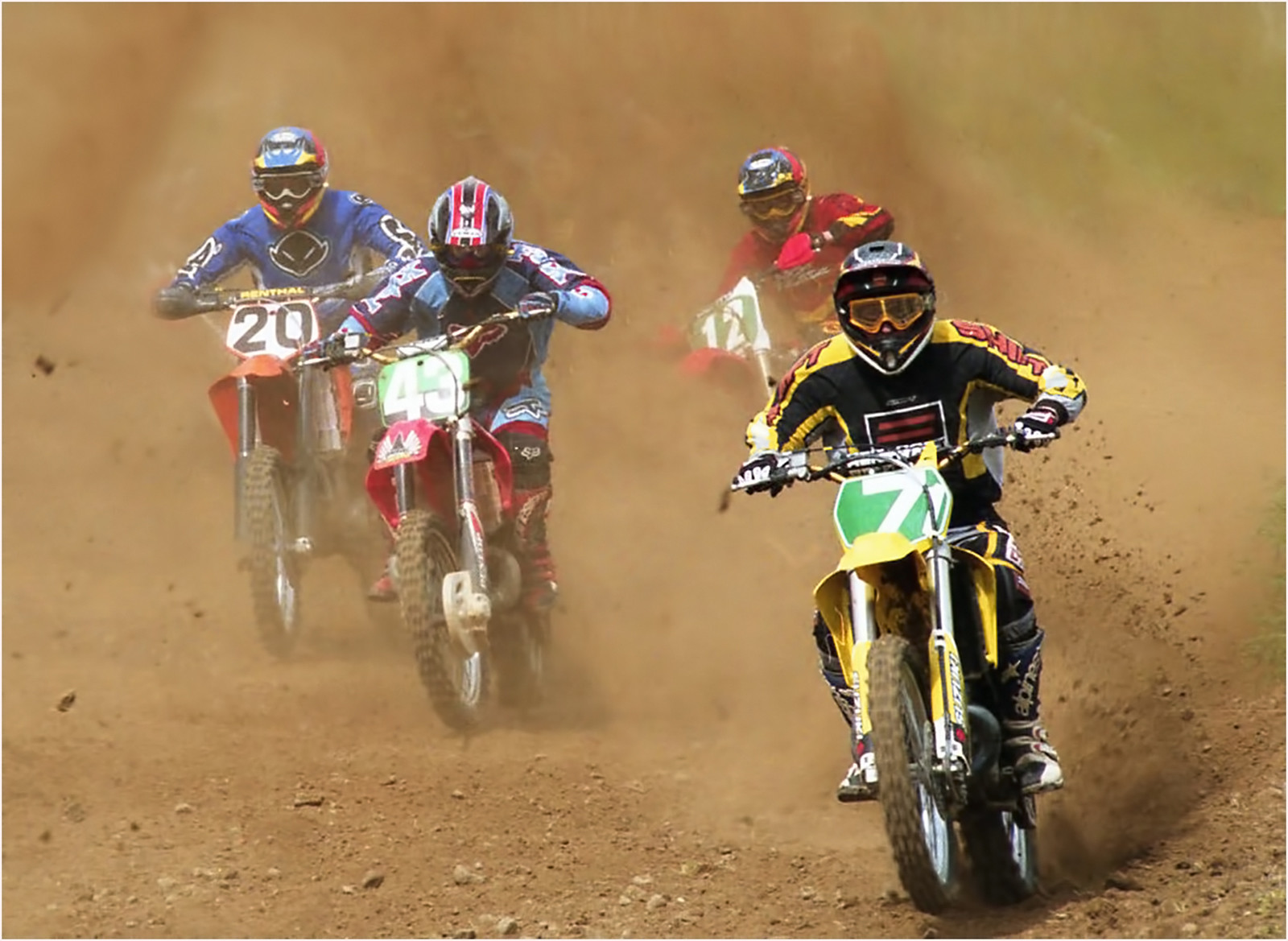 PDI - Moto Cross Racers by William Clegg (9 marks)