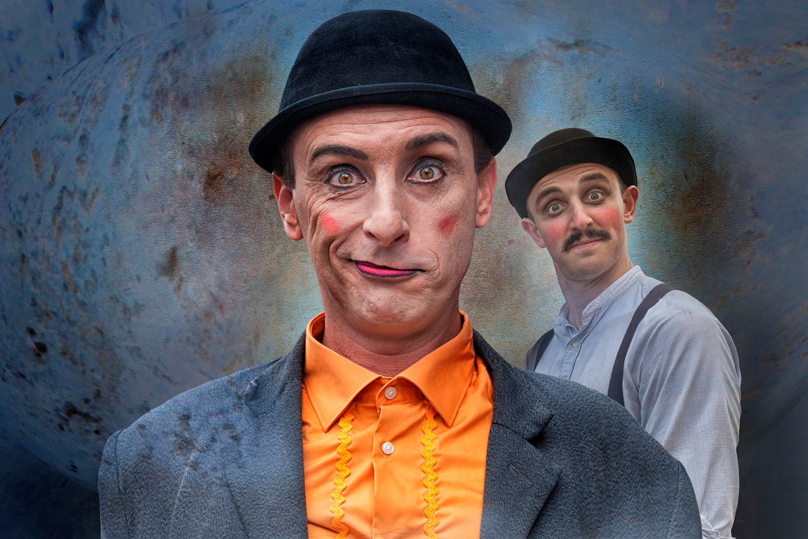 COLOUR - Two Clowns by Judy Boyle (18 marks)