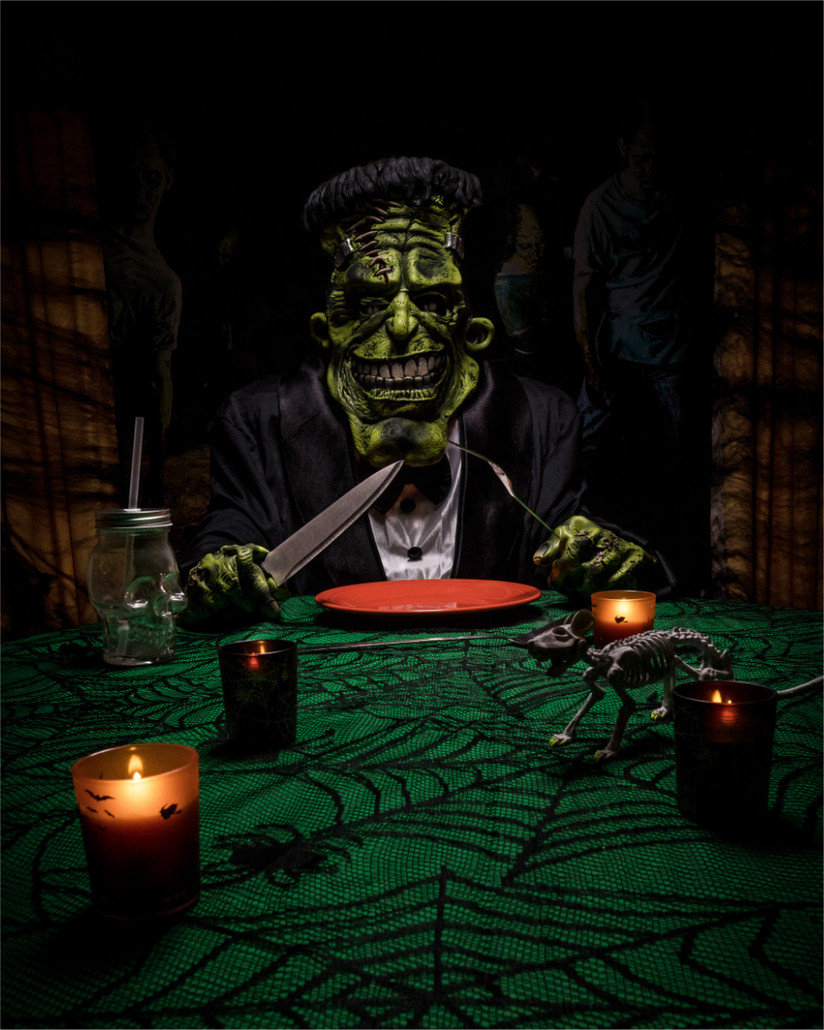 COLOUR - Feed My Frankenstein - Alice Cooper by Ivan Stewart (11 marks)
