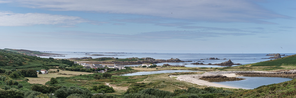 """COLOUR - """"Bryher - Looking south"""" by A.P. Cameron - Mitchel (9 marks)"""