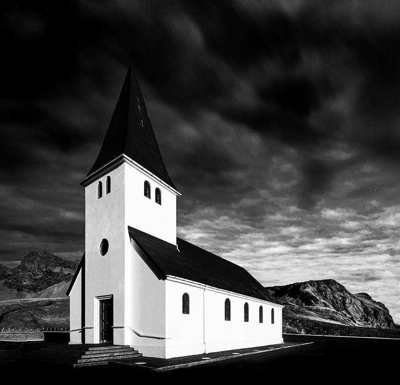 MONO - Vik Church by Arnie McAllister (10 marks)