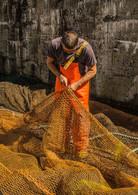 COLOUR - Mending the Nets by Jim Walker (8 marks)