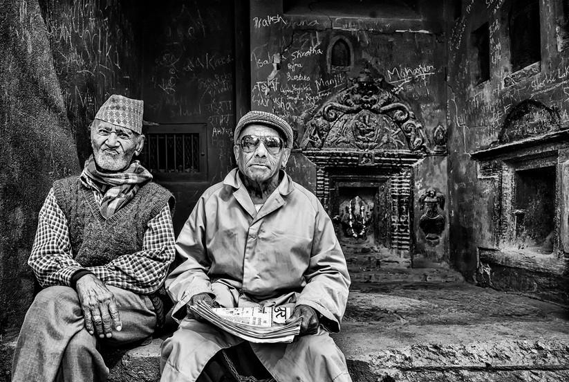 MONO - Nepali Men by Helen Hnafin (20 marks)