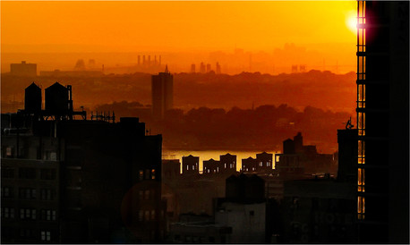 """Sunrise over the Hudson"" by Stephen McWilliams"