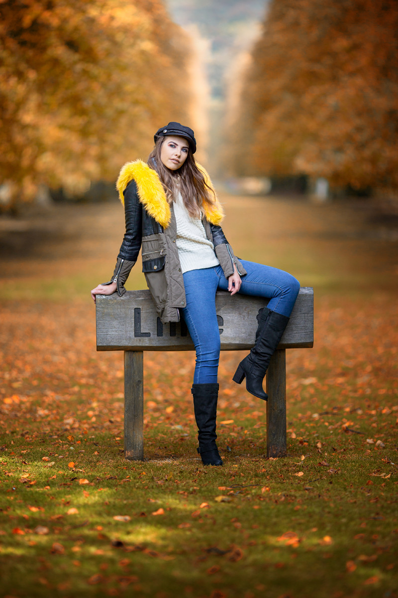 COLOUR - Hollie In The Autumn by Michael Carbery (10 marks)