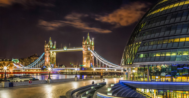 """Tower Bridge from City Hall"" by Brian McClure"