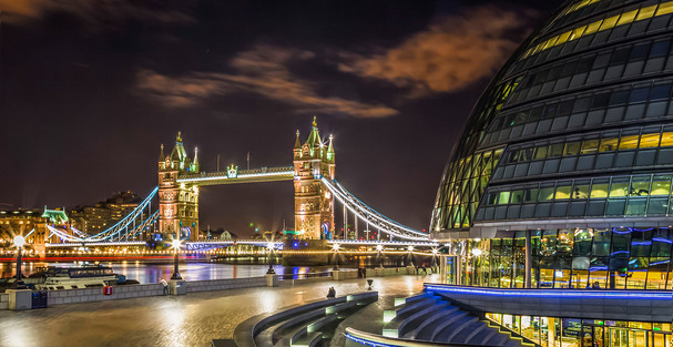 """""""Tower Bridge from City Hall"""" by Brian McClure"""