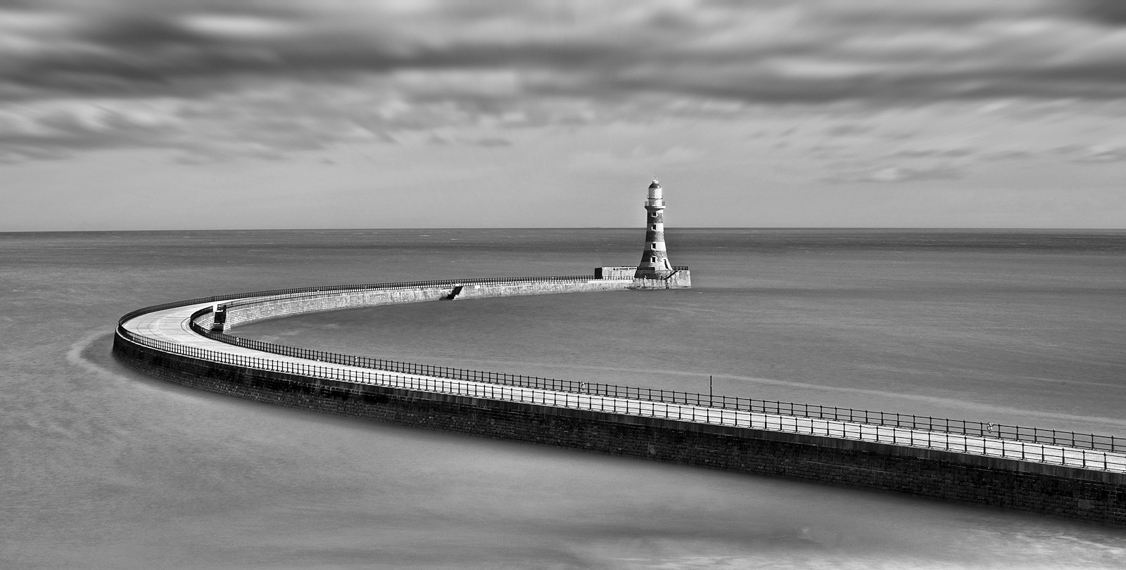 MONO - Roker Pier by Joe Beattie (11 marks)