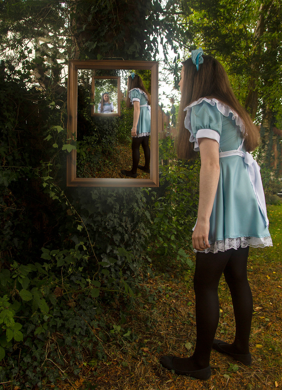 COLOUR - Through the Looking Glass - Lewis Carroll  by F Doherty (13 marks)