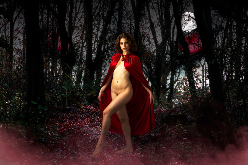 COLOUR - Little Red Riding Hood Erotic Fairytale - Jacqueline D Cirque by Aine Carbery (8 marks)