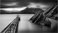 MONO - Dunree Pier Donegal by Stephen McWilliams (9 marks)