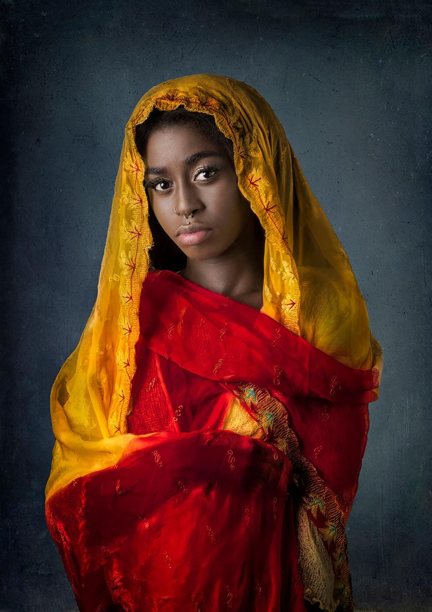 COLOUR - Jessica in Sari by William Allen (11 marks)