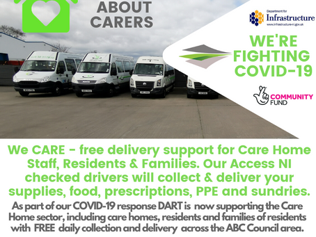We CARE - free collection/delivery service for Care Homes & Residents