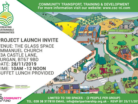 Creating Sustainable Communities Launch Invite