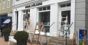 Fassadenerneuerung für Engel & Völkers Shop in Blankenese