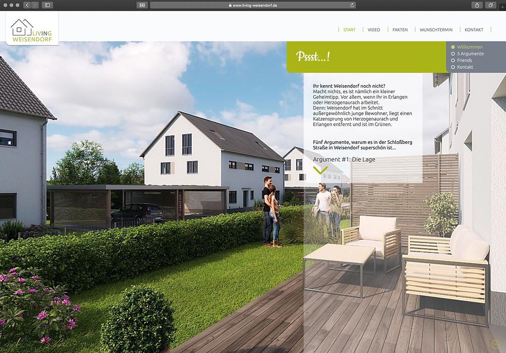 Website www.living-weisendorf.de
