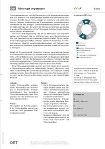 QET Datenblatt Q01 Führungskompetenzen