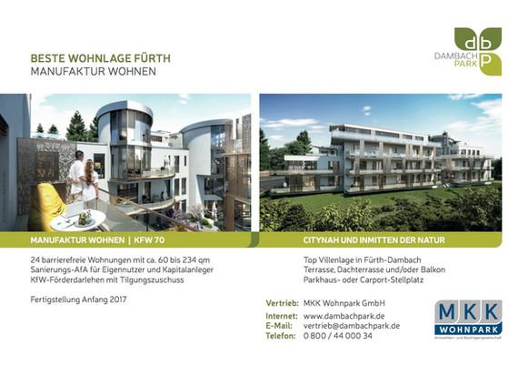 DambachPark | Komplette Marketing-Betreuung für die  MKK Wohnpark GmbH
