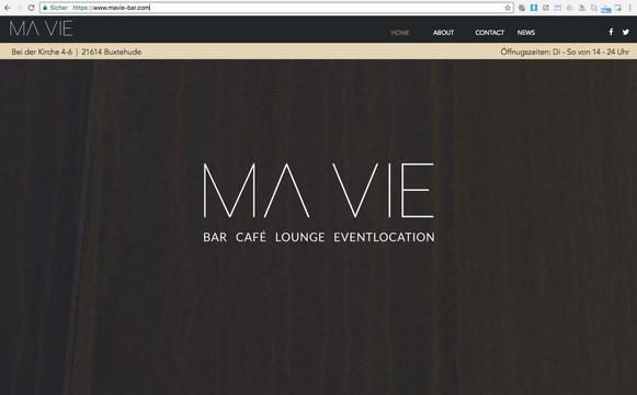 Neue Website und Logo-Refresh für MA VIE, einer Bar in Buxtehude