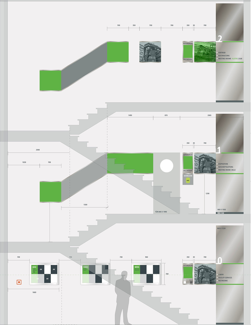 Hanseproject – Treppenhausgestaltung für die Indavor Gruppe – AVG