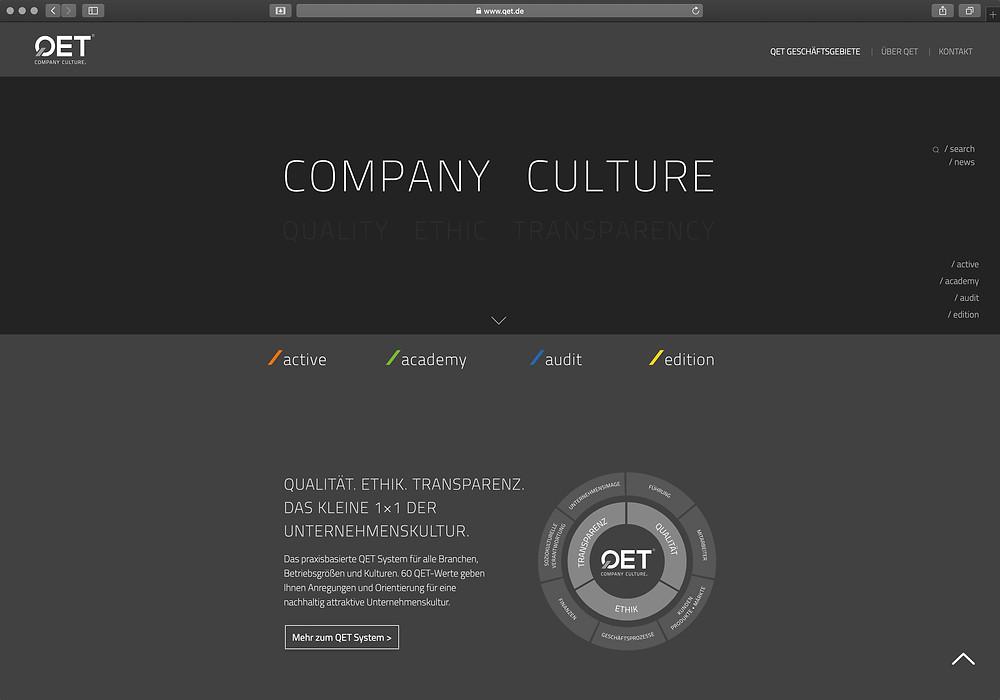 Website für QET www.qet.de