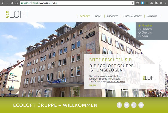 Komplettes Marketing-Paket für die EcoLoft Gruppe AG