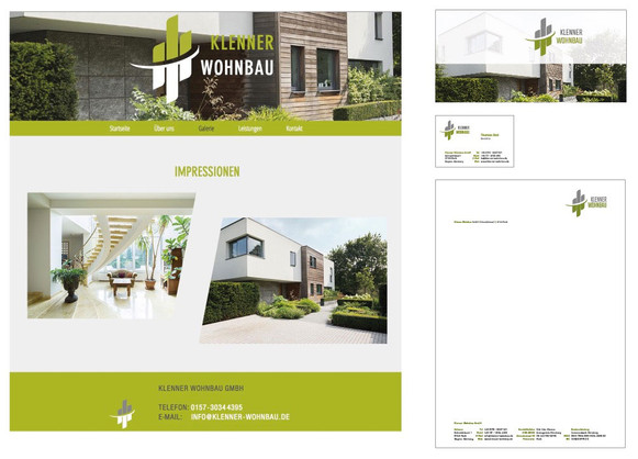 Corporate Design Klenner Wohnbau