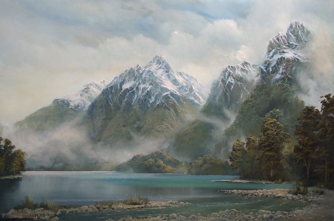 New zealand Mountain Landscape Art
