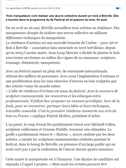 Charente Libre 04/2011